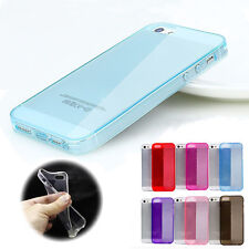 Soft Crystal Case Cover TPU Silicone Protector Skin for iPhone 5 5s Candy Color