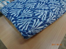 blue color block print fabric Yards Natura l100% cotton fabric hand print indigo