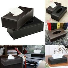 PU Leather Tissue Box Cover Toilet Paper Holder Home Car Tissue Holder 2 Colors