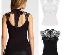 New Summer Sexy Girls Lace Clothes Backless Waistcoat Vest Sweats & Hoodies lace
