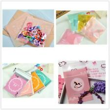 100pcs Cookie Candy Gift Adhesive Seal Package Plastic Bag Cellophane 6 Types