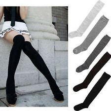 Solid Women Girls Ladies Long Cotton Stockings Thigh High Over The Knee Socks 58