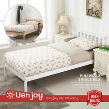 BN 3FT Single Bed Frame Wooden Finished Bedroom Furniture White/Natural