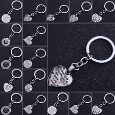 Paws Prints Love Heart Pet Dog Cat Pink Key Ring Charm Keyring Keychain Gifts