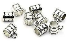 Bail Bead_1/3/5 PC_For Silver European Chain Charm Bracelet_5mm Hole_10x8mm_T3