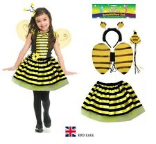 Kids BUMBLE BEE TUTU COSTUME Fancy Dress Halloween Ears Animal Accessory Set UK