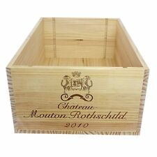 Authentic 2010 Chateau Mouton Rothschild Wooden Wine Crate without Lid