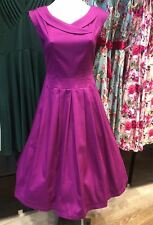 Timeless Vannessa Tong Calista Dress Grape Purple Vintage Retro Rockabilly PinUp