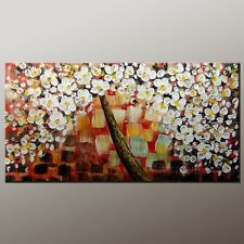 Texture Blossom Wall Art Decor Modern Canvas Abstract Painting (+ framed)