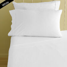 1000TC/1200TC 100%EGYPTIAN COTTON  ALL US SIZES ALL BEDDING ITEMS WHITE SOLID