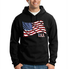 American Flag USA United States Freedom Patriotic Hooded Sweatshirt Hoodie