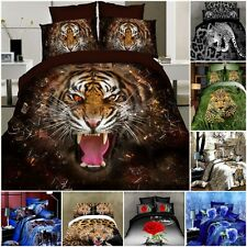 3D Bedding Set King Queen Size Bed Duvet Pillow Quilt Print Cotton Sheet Printed