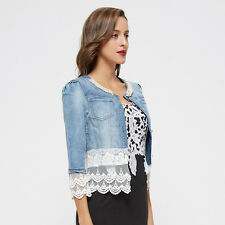 jacket jeans women's jacket lace pearls woman jacket denim