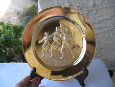 """ARCHIBALD M. WILLARD 1973 """"THE SPIRIT OF 76"""" SIGNED 24KTPLATED 3D  WALL PLATE"""