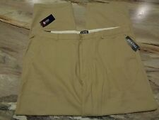 MEN'S BIG&TALL CHAPS CLASSIC STRAIGHT FLAT-FRONT COTTON KHAKI PANTS