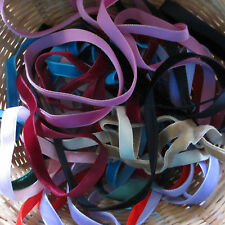 10 Metre Bundle Mixed Velvet Ribbon Trimmings Assorted Colours/Widths Offcuts
