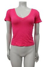 Enza Costa Fuschia Hi low V neck top Size XS S M NWT