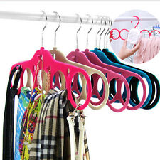 5 Ring Scarf Hanger Hole Designed Ties Belts Hanger Holder Closet Organizer New