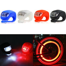 BLACK Silicone Bike Rear Wheel LED Flash Light Lamp Bicycle Cycling Head Front