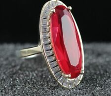 925 STERLING SILVER HANDMADE TURKISH JEWELRY / RED RUBY LADY RING