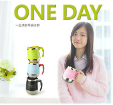 ONEDAY Coffee Mug Cute Big Belly Cup Stainless Steel THermocup Mugs With Lid