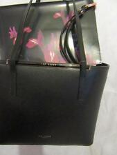Ted Baker Crosshatch Shopper/ tote hand Bag Black with floral purse/clutch NEW