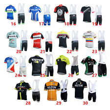New Cycling Bike Short Sleeve Clothing Team Bike Jerseys + Bib Shorts Suit Sets