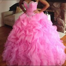 New Beaded Prom Quinceanera dress Pageant Dresses Bridal Ball Gown Size Custom