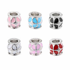 50/100PCS  Fashion Big Hole European Charms Zinc Alloy Beads Bracelets & Bangle