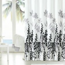 Vinyl Shower Curtain Mirage Liner  Teal Floral Flowers Fabric Bathroom Curtain