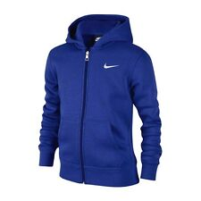 Nike BOY'S CORE BRUSHED FLEECE FULL ZIP HOODIE, ROYAL BLUE*USA Brand-XS Or Small