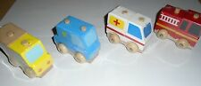 WOODEN VEHICLES  - POLICE, AMBULANCE, FIRE ENGINE, OR TRUCK - PLEASE CHOOSE