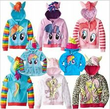 HOT Girls My Little Pony Hoodie Wings Kids Jacket Sweater Twilight Sparkle Dash