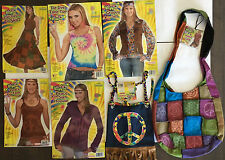 Adult Hippie - 60's Groovy set,Tank top, Skirt and Hand Bag Costume Accessories