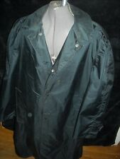 VTG MENS 42 44 BLAUER BLACK RAIN TRENCH POLICE SECURITY LONG JACKET OVER COAT