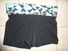 """VICTORIAS SECRET PINK BLING AZTEC DOG """"PINK"""" YOGA SHORTIE FOLD OVER SHORTS NWT"""