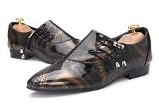 Mens Pointed Toe Lace Up Casual Patent Leather Chic Urban Stylish Dress Shoes