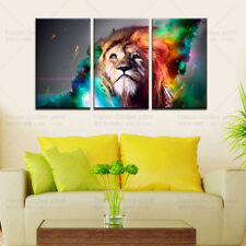 3 Panels modern abstract canvas art wall decor lion paintings printed on canvas