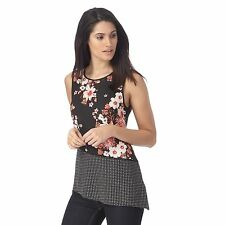 The Collection Womens Black Floral Print Spotted Top From Debenhams