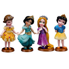 Princess Cartoon Snow White Rapunzel Jasmine Figure Model, Anime Brinquedos Toys