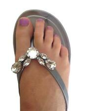 New Womens Diana Ferrari Jelly Sandal/Thong/Shoe Silver Size 6/7/8/9/10/11