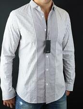 Armani Exchange A|X Mens Button Front Collared Pin Stripe Cotton Shirt