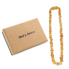 Raw Baltic Amber Necklace for Boy (Lemon Raw) - 3 Sizes