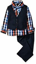 Nautica Childrens Apparel N135329Q Baby Mini Houndstooth Vest Set W/ Bow