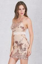 Sexy Women Sling Deep V-Neck Sequins Bandage Evening Cocktail Party Mini Dress