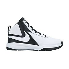 Nike Team Hustle D-7 BOY'S BASKETBALL SHOES, WHITE/BLACK - Size US 5, 6 Or 7