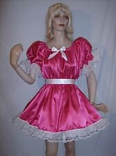 ADULT SISSY BABY SATIN LIL GIRL STYLE PARTY PAGEANT DRESS