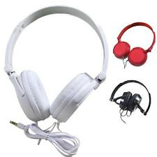 3COLOR STEREO HEADPHONES DJ STYLE FOLDABLE HEADSET EARPHONE OVER EAR MP3/4 3.5MM