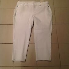 TALBOTS White Denim Jeans Pants Plus Petite Curvy Fit Slimming Ankle NWT $89.50