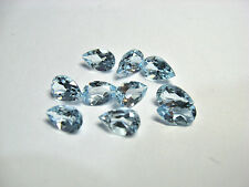 Natural Sky Blue Topaz Calibrated Size Pear Cut Top Quality Loose Gemstone Lot